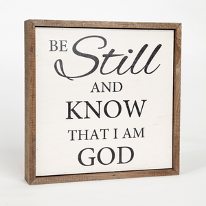 Be Still and Know Wall Plaque