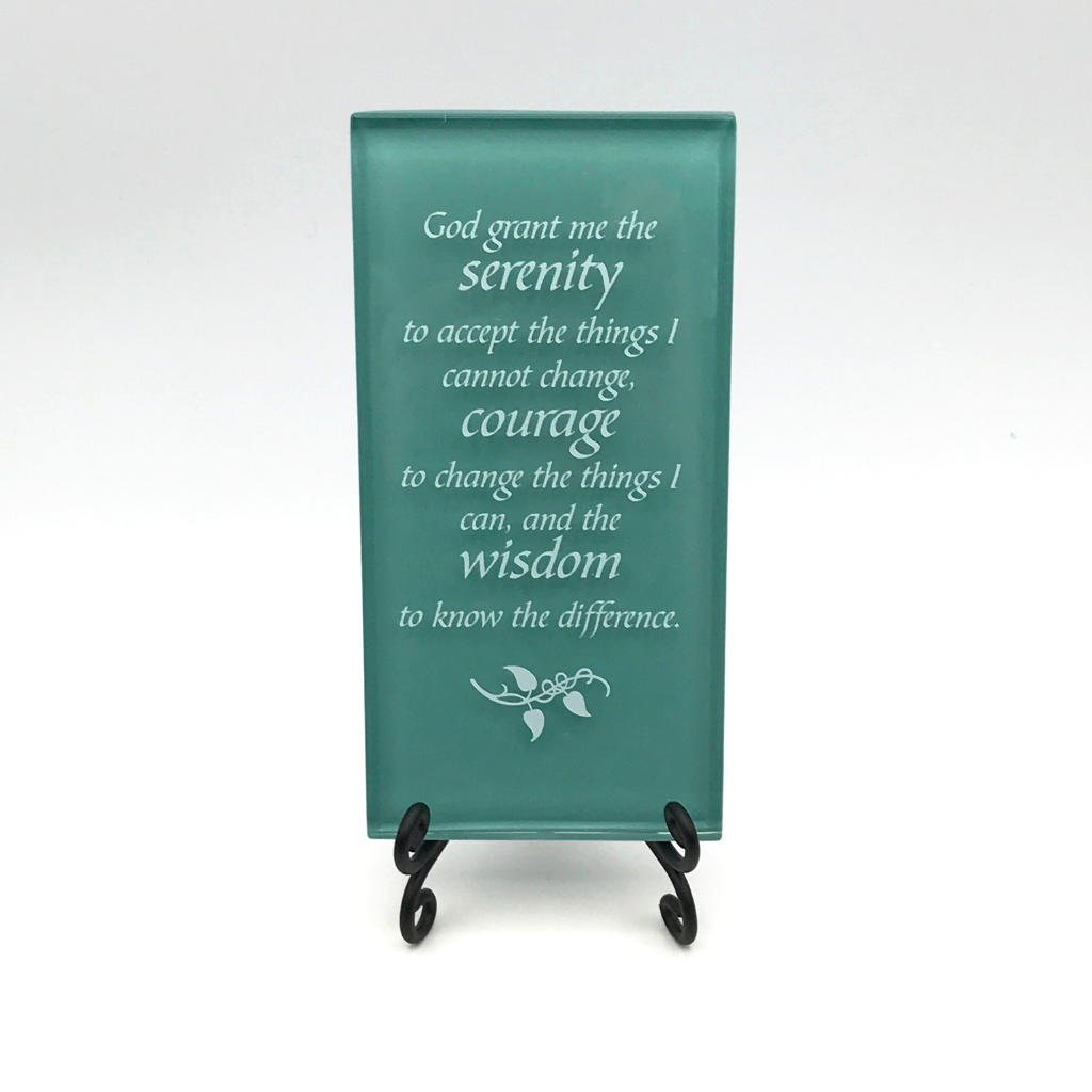 Serenity Prayer Alter Plaque