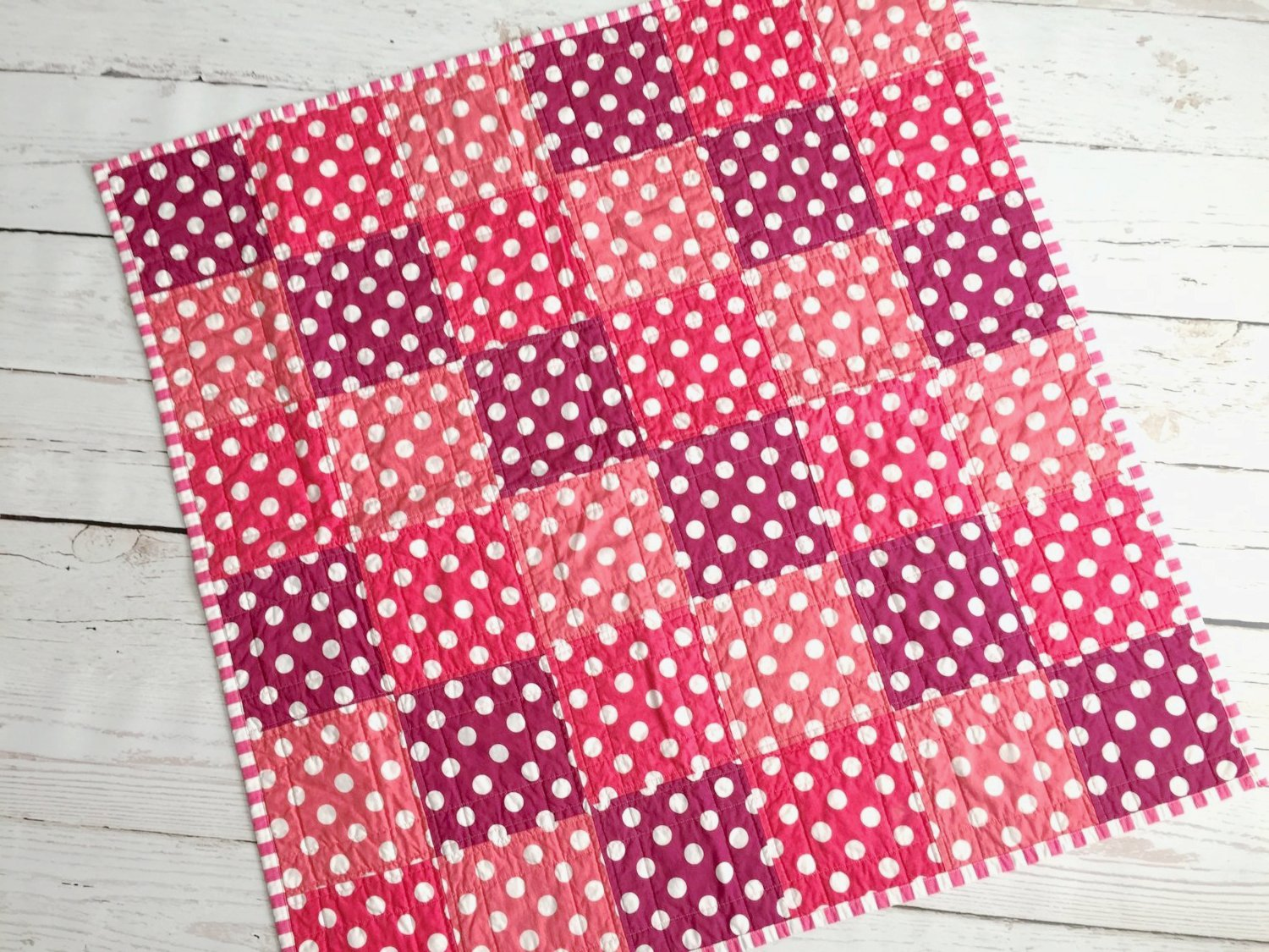 Sophie Polka Dot Quilt - Ready to Ship