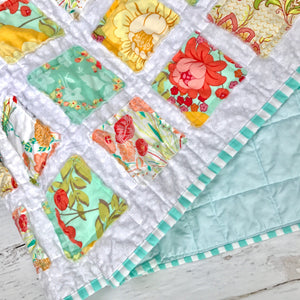 flowers-and-gingham-baby-blanket-top-gifts-for-babies