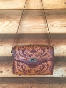 Vintage Hand Carved Purse
