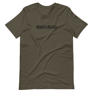 Acts 17:22-31 Army Short-Sleeve Unisex T-Shirt