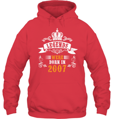10th Birthday Shirt Legends Were Born In 2007 Shirt Gift