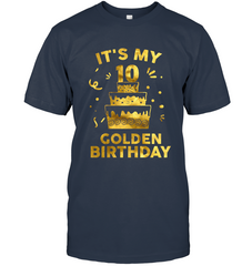 10th Birthday Shirt It's My 10th Golden Birthday Vintage