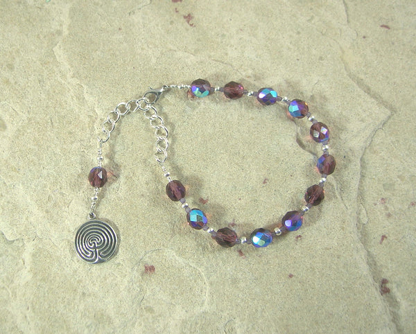 Ariadne Prayer Bead Bracelet: Greek Goddess, Mistress of the Labyrinth