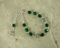 Artio Prayer Bead Bracelet: Gaulish Celtic Goddess of the Bear