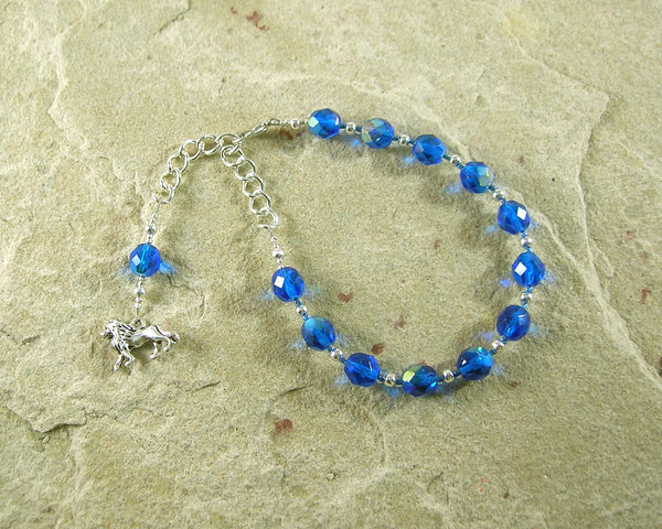 Tefnut Prayer Bead Bracelet: Goddess of the Waters and the Rains - Hearthfire Handworks