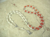 CUSTOM ORDER, RESERVED FOR S: Aphrodite Necklace in Carnelian and Snow Agate