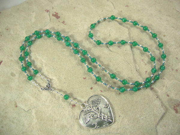 CUSTOM ORDER, RESERVED FOR S: Panacea Necklace in Green Agate