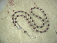 CUSTOM ORDER, RESERVED FOR S: Atum Prayer Bead Necklace in Garnet