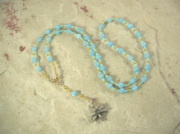 CUSTOM ORDER, RESERVED FOR S: Seshet Necklace in Aquamarine