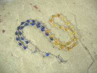 CUSTOM ORDER, RESERVED FOR S: Thoth Necklace in Citrine and Lapis