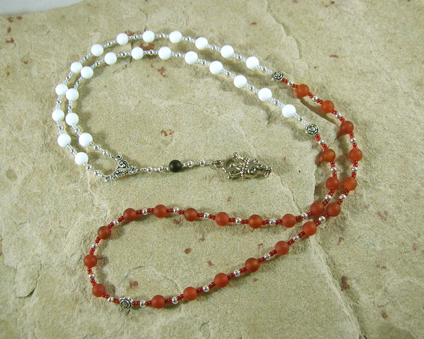 Custom Order: Santa Muerte Prayer Beads - Hearthfire Handworks