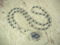 CUSTOM ORDER, RESERVED FOR S:  Uttu Prayer Bead Necklace in Hematite, Sumerian Mesopotamian Goddess of Weaving