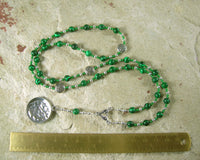 Danu Prayer Bead Necklace in Reconstituted Malachite: Irish Celtic Mother Goddess - Hearthfire Handworks