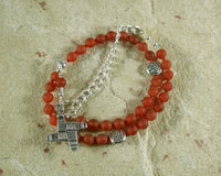 Brigid Necklace in Carnelian (Adjustable): Irish Celtic Goddess of Poetry, Crafts and Healing - Hearthfire Handworks