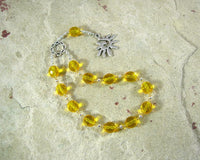Dazhbog Pocket Prayer Beads: Slavic God of the Sun, Wealth, Good Fortune