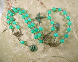 Aphrodite Prayer Beads: Greek Goddess of Love and Beauty, Born of Seafoam - Hearthfire Handworks