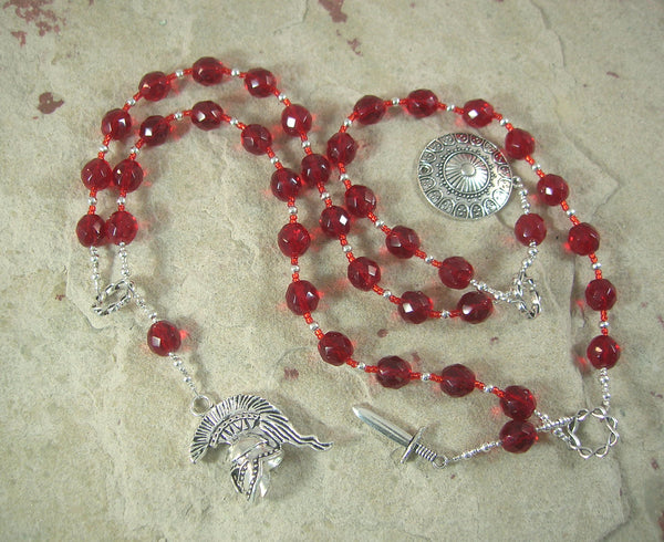 Ares Prayer Beads: Greek God of War, Courage, Survival,  Protector of Soldiers