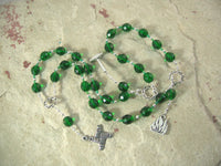 Brigid (Brighid, Brigit) Prayer Beads in Green: Irish Celtic Goddess of Poetry, Crafts, Healing