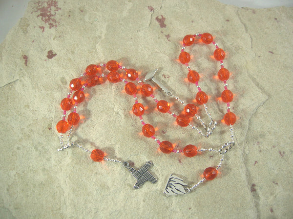 Brigid (Brighid, Brigit) Prayer Beads in Orange: Irish Celtic Goddess of Poetry, Crafts, Healing
