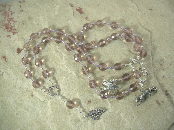 Dionysos (Dionysus, Bacchus) Prayer Beads: Greek God of Wine, Theater, Ecstasy and the Mysteries