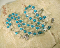 Hera Prayer Beads: Greek Goddess of the Sky, Marriage, Queen of Olympus - Hearthfire Handworks