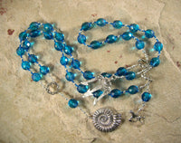 Poseidon Prayer Beads: Greek God of the Sea and Patron of Sailors - Hearthfire Handworks