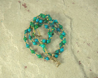 Amphitrite Prayer Bead Necklace in Chrysocolla: Greek Goddess, Queen of the Seas