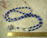 Athena Prayer Bead Necklace in Lapis Lazuli: Greek Goddess of Wisdom, Weaving and War - Hearthfire Handworks