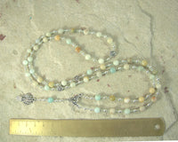 Demeter Prayer Bead Necklace in Flower Amazonite: Greek Goddess of Grain, the Harvest, the Seasons, and the Afterlife