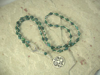 Demeter Prayer Bead Necklace in Moss Agate: Greek Goddess of Grain, the Harvest, the Seasons, and the Afterlife