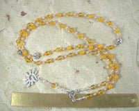 Eos Prayer Bead Necklace in Citrine: Greek Goddess of the Dawn