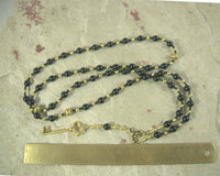Hekate (Hecate) Prayer Bead Necklace in Black Onyx: Greek Goddess of Magic, Witchcraft