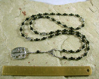 Hekate (Hecate) Prayer Bead Necklace in Black Onyx Greek Goddess of Magic, Witchcraft - Hearthfire Handworks