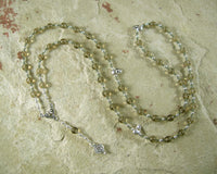 Persephone Prayer Bead Necklace in Smoky Quartz: Greek Goddess of Spring, Death, the Afterlife - Hearthfire Handworks