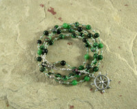 Tyche (Fortune) Prayer Bead Necklace in Ruby-Zoisite: Greek Goddess of Luck, Chance and Prosperity - Hearthfire Handworks