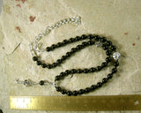 Hekate (Hecate) Necklace in Black Onyx (Adjustable): Greek Goddess of Magic, Witchcraft - Hearthfire Handworks