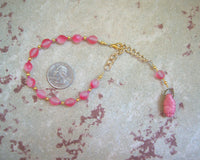 Gaia Prayer Bead Bracelet in Rose: Mother Earth, Mother of the Greek Gods - Hearthfire Handworks