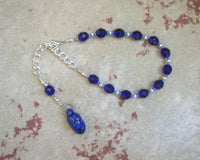 Gaia Prayer Bead Bracelet in Blue: Mother Earth, Mother of the Greek Gods - Hearthfire Handworks