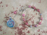 Belenos (Belenus) Pocket Prayer Beads in Rhodonite: Gaulish Celtic God of the Sun - Hearthfire Handworks