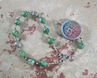 Nemetona Pocket Prayer Beads in Tree Agate: Gaulish Celtic Goddess of the Sacred Grove - Hearthfire Handworks