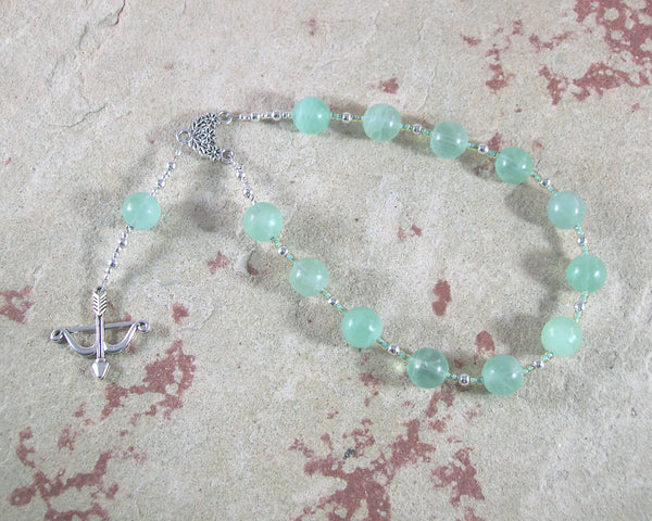 Artemis Pocket Prayer Beads in Green Fluorite: Greek Goddess of  the Wild, Protector of Young Women - Hearthfire Handworks