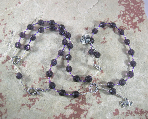Ariadne Prayer Beads: Greek Goddess, Mistress of the Labyrinth - Hearthfire Handworks