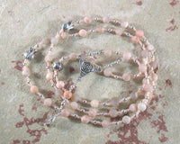 Persephone Prayer Bead Necklace in Sunstone: Greek Goddess of Spring, Death, the Afterlife - Hearthfire Handworks