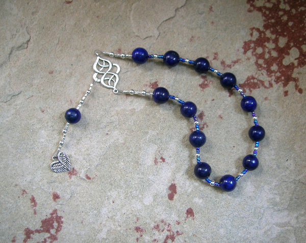 Eleos (Pity) Pocket Prayer Beads in Lapis Lazuli: Greek Goddess of Compassion and Mercy - Hearthfire Handworks