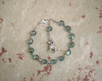 Pan Prayer Bead Bracelet: Greek God of the Forest, Mountains, Country Life - Hearthfire Handworks