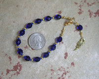 Zeus Prayer Bead Bracelet: Greek God of the Sky and Storm, Thunder and Lightning, Justice - Hearthfire Handworks
