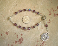 Ariadne Travel Prayer Beads: Greek Goddess, Mistress of the Labyrinth - Hearthfire Handworks