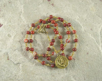Sekhmet Prayer Bead Necklace in Red Jasper: Egyptian Goddess of Healing, War, Justice and Vengeance - Hearthfire Handworks